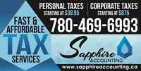 Personal Taxes Starting @ $39.95