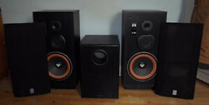 Cerwin-Vega VS-100 and Acoustech Labs sub-woofer.
