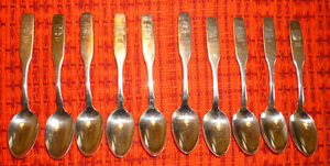 10 silver spoons-10 Canadian Provinces
