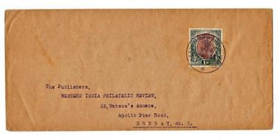 India SG#186(1rupee)-H.R.H.THE PRINCE OF WALES CAMP P.O. 18/MAR/22 for sale  Shipping to India