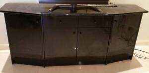 TV Cabinet Dresser - Black - Solid Wood Fairfield Fairfield Area Preview