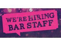 Bar staff needed for immediate start