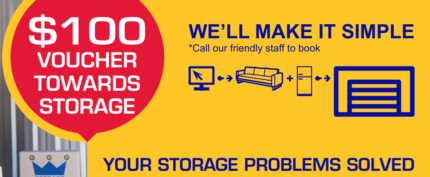 $100 off your Storage Rental Fees!
