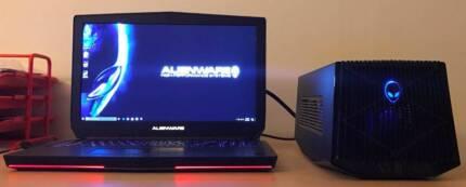 Alienware 17 inch i7 4720HQ GTX970M 16G Ram 256G SSD + 1TB HDD