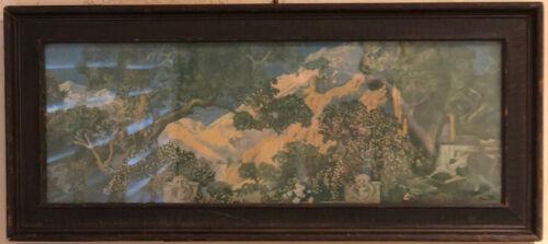 "Original 1915 Maxfield Parrish Art Print ""The Dream Garden"""