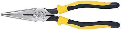 Klein Tools J203-8 8 Journeyman Heavy-duty Long-nose Pliers - Side-cutting