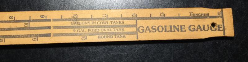 FORD UNIVERSAL CAR WOODEN GAS MEASURING STICK Lang's MODEL T Gauge Ashburnham MA
