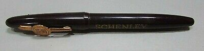Old Schenley Whiskey Advertising Vintage Brown Plastic Cap Style Pen FREE S/H