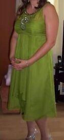 Size 14, Green Monsoon Dress