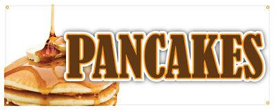 Pancakes Banner Breakfast Restaurant Business Sign 24x72