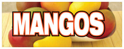Mangos Banner Tropical Fruit Stand Farmers Market Juice Sign -