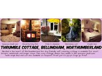 COTTAGE IN NORTHUMBERLAND. DOG FRIENDLY. SLEEPS TWO