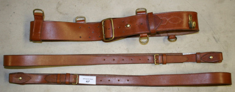 New British Sam Browne Belt w/Two Braces - Large sizes