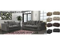 New Wrapped Fabric & Leather Sofas Cheap Settees Quick Delivery 3 + 2 and Corners