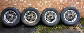 Set of x4 MGB painted wire wheels
