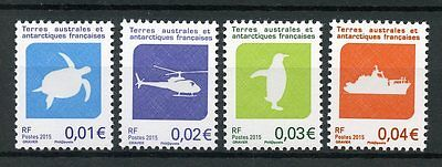 FSAT TAAF 2015 MNH Local Issue Turtles Helicopters Ships Penguins 4v Set Stamps