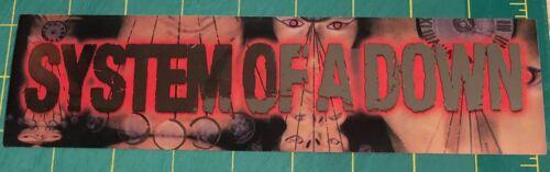 System Of A Down Mezmerize RARE promo bumper sticker 2005