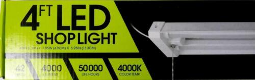 New FEIT Electric 4ft LED Linkable Shop Light, 42W, 4000 LM, 4K Temp