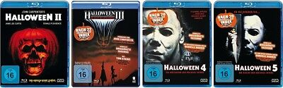 HALLOWEEN 2 + 3 + 4 + 5 - im Set! Michael Myers 4x Blu-ray Disc NEU + OVP! ()