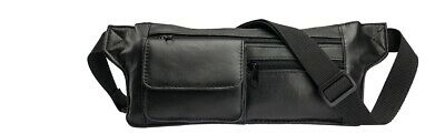 14 Schwarz Leder (STEFANO Leder Gürteltasche Bauchtasche Hüfttasche Tasche schwarz 29 x 14 x 0,5)