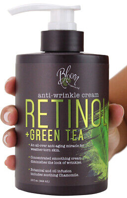 Bloom Retinol + Green Tea Cream Anti-Wrinkle For Fine Lines,