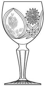Sears Country Rose crystal wine glasses.