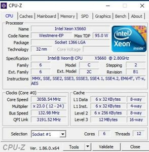 DELL PRECISION T5500 Intel Xeon 2 Processors (12 Threads)