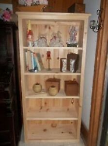 Solid Pine Un-Finished Wooden Shelving Unit