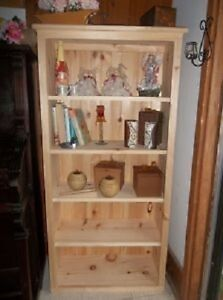 Solid Pine Un-Finished Book Shelf