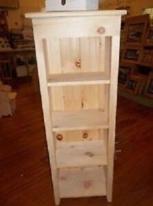 Unfinished Pine 4' Tall Shelf Cabinet