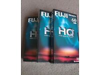 3 x Fuji HQ+ 60 min 1 Hour Blank Video Cassette Tapes VHS New