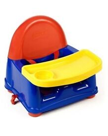 Safety first booster seat with removable tray
