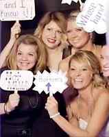 Elegant photo booth rental - for your very special wedding day!