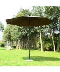 Solar Patio Umbrella w/ LED lights and Bluetooth music speaker