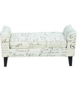 Ottoman bench / Scripted Ottoman / BENCH / OTTOMAN