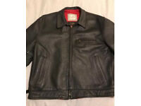 Vintage Men's leather Steerhide Aero Highwayman Cafe Racer style.