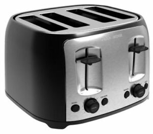 BLACK+DECKER TR4200SBD 4-Slice Extra Wide Slot Toaster, Bagel To