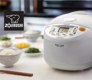 USED ZOJIRUSHI RICE COOKER UMAMI MICOM RICE COOKER AND WARMER, 10 CUP (PEARL WHITE)  83386925