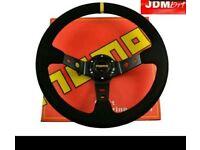 Momo steering wheel 350mm deep dish suede