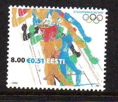ESTONIA MNH 2006 SG508 WINTER OLYMPIC GAMES - TURIN