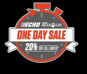 20% OFF ECHO POWER EQUIPMENT - 1 DAY SALE - FRIDAY MAY 26TH