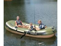 voyager 500 inflatable boat with oars still in box