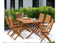 Robert Dyas quality Hardwood 150 cms large 6 seater folding table garden,Christmas guests, BNIB