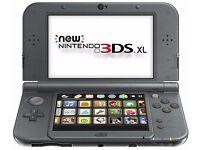 New 3DS XL Metallic Black + Pokemon Sun and Ruby