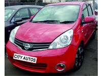 NISSAN NOTE 1.5 DIESEL 2013 REG 83,000 MILES MPV MANUAL RED