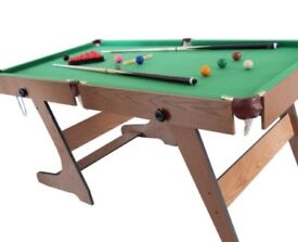 Pool Table 6ft Foldable
