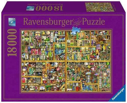 Ravensburger Puzzle 18000pc - Colin Thompson Magical Bookcase  7825-4