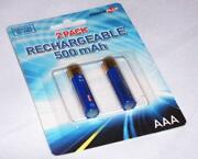 AAA Rechargeable Batteries 500mAh