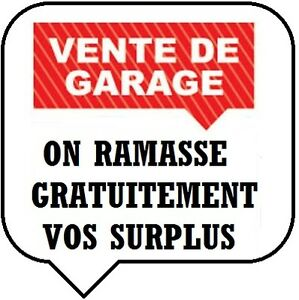 SURPLUS DE VENTE DE GARAGE