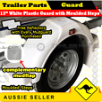 "13"" Trailer Plastic Mud Guard White Grey or Black with Steps"